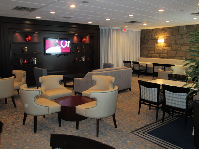 Sheraton montreal airport hotel club lounge contemporary home theater o - Chaise design montreal ...