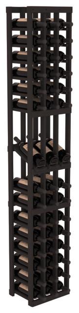 3 Column Display Row Wine Cellar Kit in Pine, Black contemporary-wine-racks