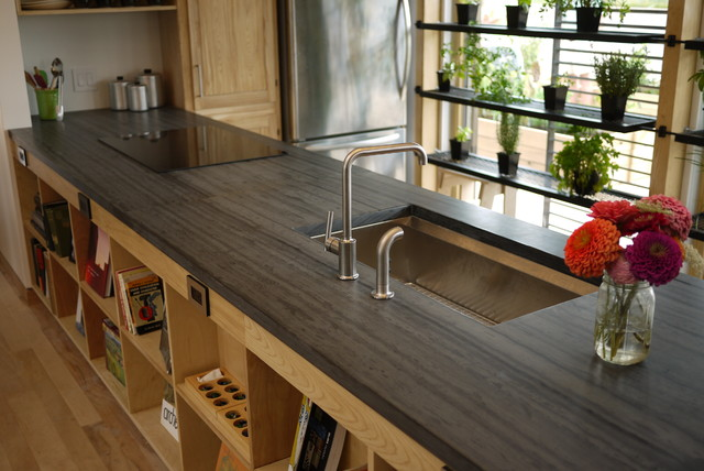 Slate Countertop - Kitchen Countertops - other metro - by Vermont Structural Slate Company
