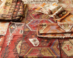 PB Found Vintage Kilim Rugs traditional-rugs