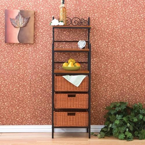 Walker Scrolled Storage Baker's Rack modern-wall-shelves