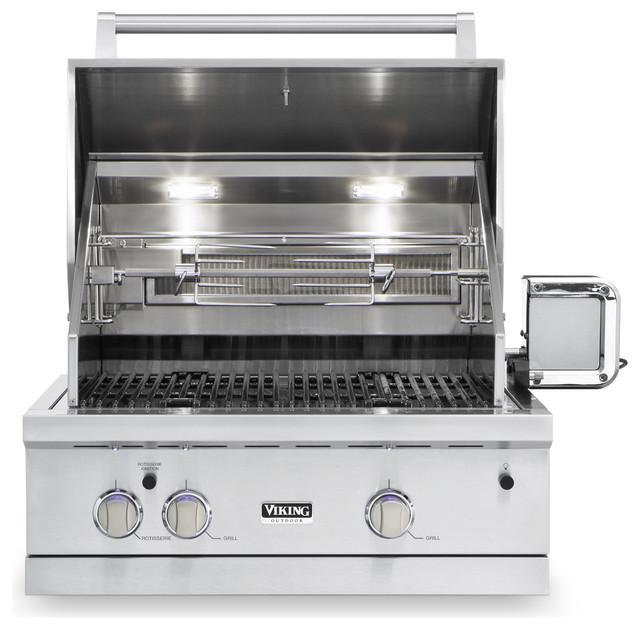 Viking 30 Built In Gas Grill Stainless Steel Natural Gas
