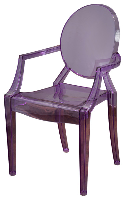 Cayden Transparent Pc Armchair Purple Modern