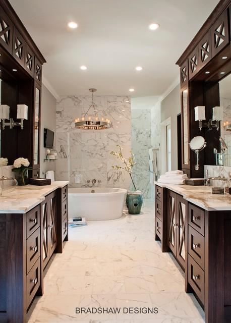 Calacatta Marble White Bath traditional-bathroom