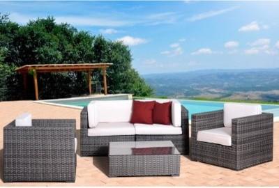 Birmingham 5 Piece Grey Wicker Sectional Set modern-outdoor-umbrellas