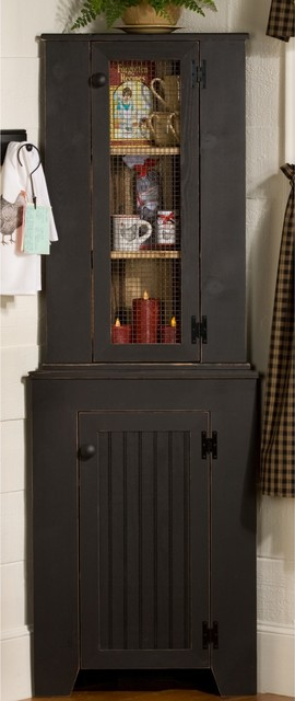 Corner Jelly Hutch Set traditional-storage-cabinets