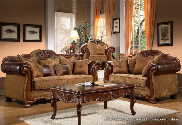 Traditional sofa sets living room sets for Living room set design