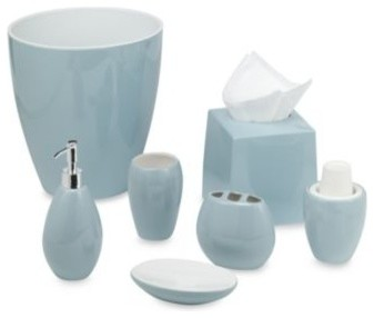 Wamsutta Elements Aqua Toothbrush Holder Contemporary Toothbrush Holders By Bed Bath Beyond