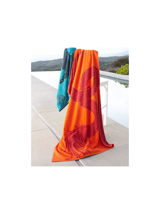 "Natori ""Dragon"" Beach Towel"