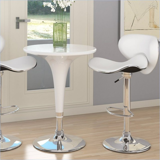 Sonax CorLiving 3 Piece Height Bar Table Pub Set in White  : contemporary bar tables from www.houzz.com size 640 x 640 jpeg 70kB