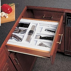 Knape & Vogt | Double-Tiered Cutlery Drawer Insert | Home Depot Canada