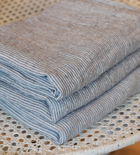 French Linen Striped Pillowcase traditional-pillowcases-and-shams