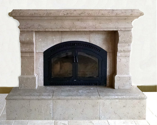 Tuscan Cast Stone Fireplace Mantel -