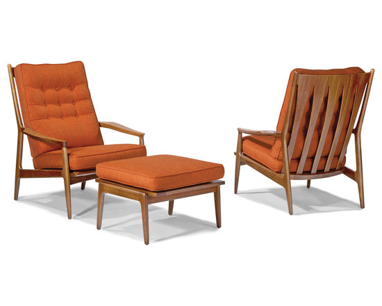 Archie Lounge Chair and Ottoman by Milo Baughman from Thayer Coggin - Thayer Coggin, Inc.