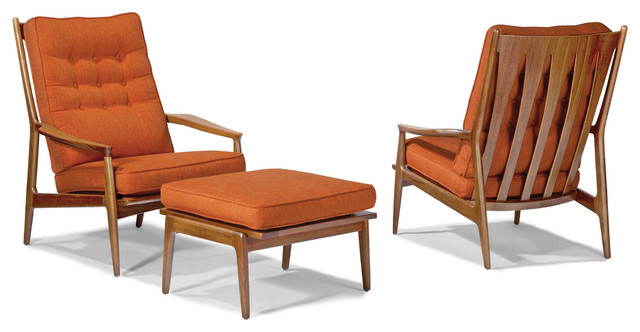 Archie Lounge Chair And Ottoman By Milo Baughman From