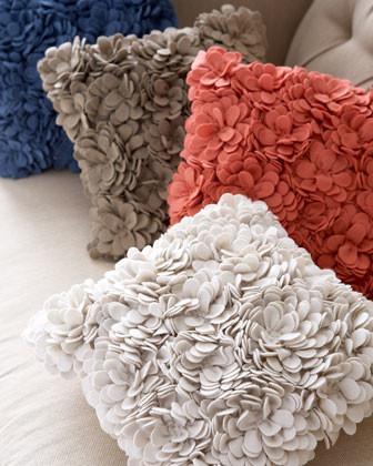 "SFERRA Delancey Felt Petal Pillow, 16""Sq. traditional-decorative-pillows"