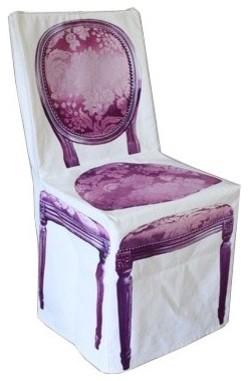 Housse de chaise imprimée - Fleux eclectic-seat-cushions