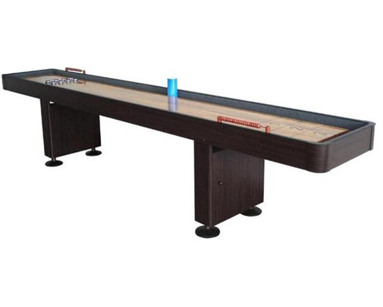 9' Shuffleboard Table - Walnut - -Also Available in 12' Model