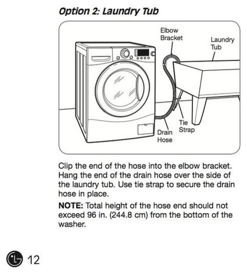 washing machine drain height maximum