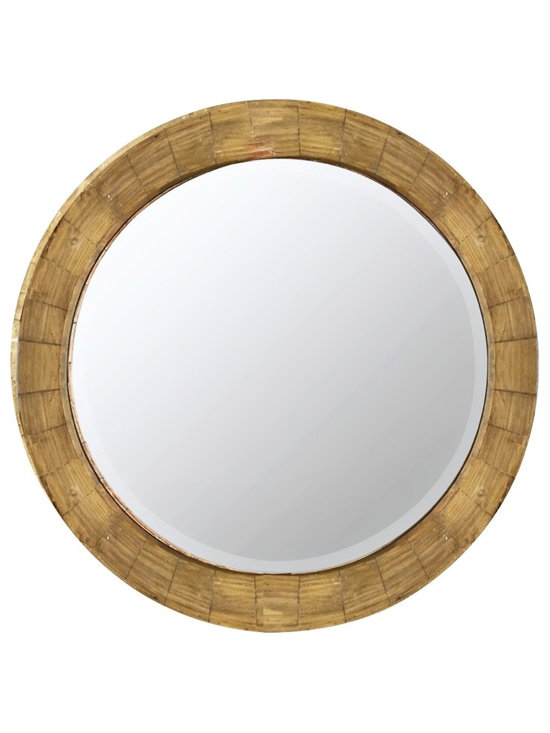 """Cooper Classics - Contemporary Cooper Classics Kettler 31 1/4"""" Round Wall Mirror - Add a rustic inspired touch to any space with this round wall mirror. A natural wood finish provides a lovely color and texture. A handsome accent for any room in your home. Round wall mirror. Wood construction. Natural wood finish. Mirror is beveled. 31 1/4"""" round. Mirror only measures 24 1/2"""" round.  Round wall mirror.  Wood construction.  Natural wood finish.  Mirror is beveled.  31 1/4"""" round.  Mirror only measures 24 1/2"""" round."""