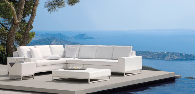 outdoor lux white sofa modern patio furniture and outdoor furniture