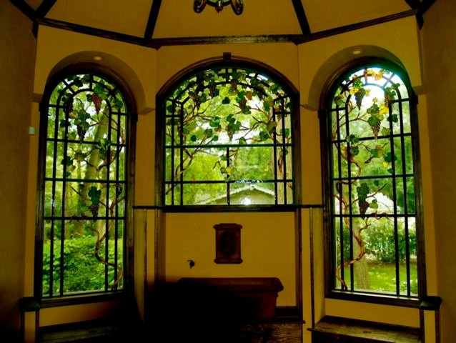 Leaded Glass Floral Windows And Transoms Traditional Kitchen New York By Somers Stained