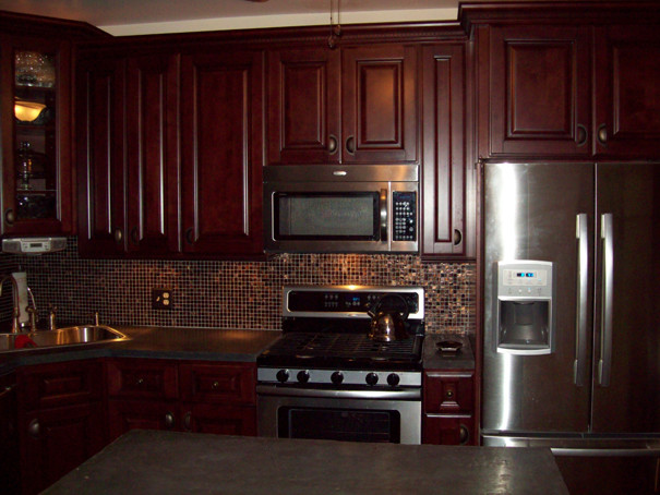 Brown Kitchen Cabinets Pacifica Door Style