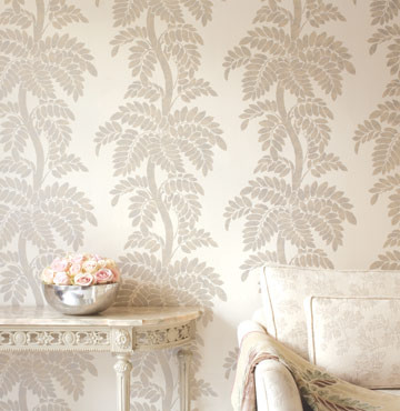 wisteria wallpaper bathroom - photo #12