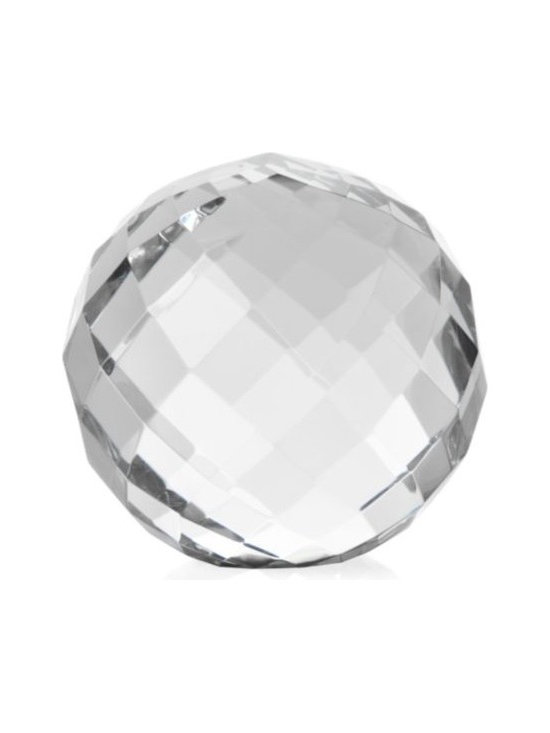 Faceted Crystal Sphere - What lady doesn't love a little crystal in her life?