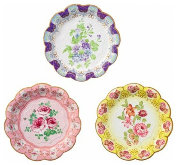 Utterly Scrumptious Floral Plates eclectic-dinner-plates