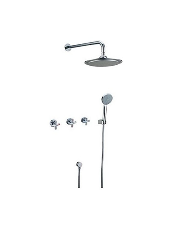 Shower Faucets - Contemporary Tub Shower Faucet with 10 inch Shower Head--FaucetSuperDeal.com