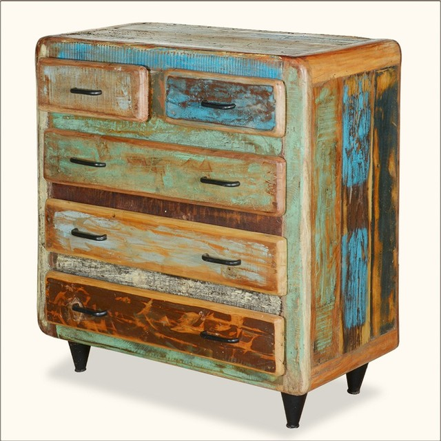 painted wood furniture at the galleria