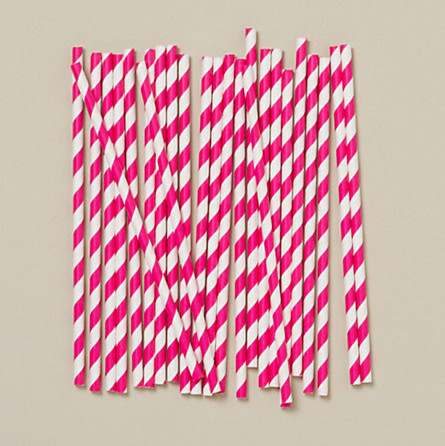 Soda Fountain Straws, Pastel Pink modern-wine-and-bar-tools