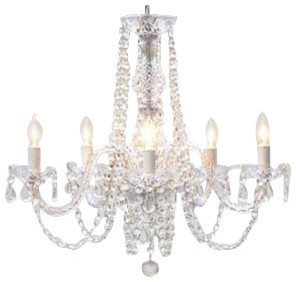 Authentic All Crystal Chandelier Swag Plug In Chandelier