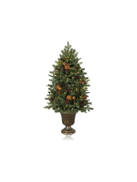 Balsam Hill Orchard Harvest Potted Artificial Christmas Tree - BOUNTIFUL BEAUTY WITH BALSAM HILL'S ORCHARD HARVEST POTTED CHRISTMAS TREE |