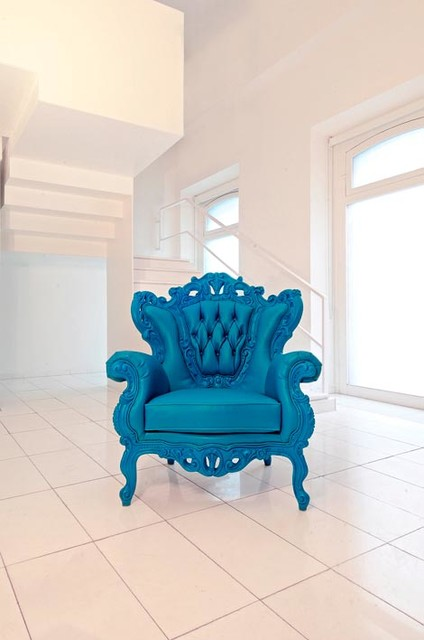Colorful baroque modern living room chairs oklahoma for Modern baroque living room