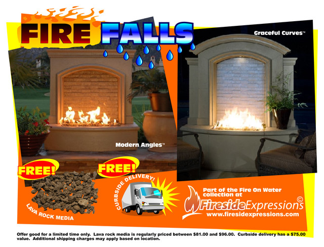 Fire On Water Fountains Traditional Outdoor Fountains