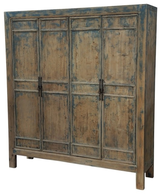 Reclaimed Wood Large Armoire - Farmhouse - Armoires And Wardrobes - by Terra Nova Designs, Inc.