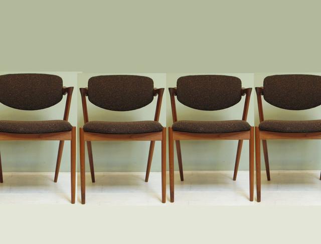 Mid century modern chairs by danish designer Kai Kristiansen modern-dining-chairs