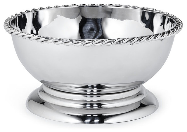 Paloma Bowl with Braided Wire traditional-bowls
