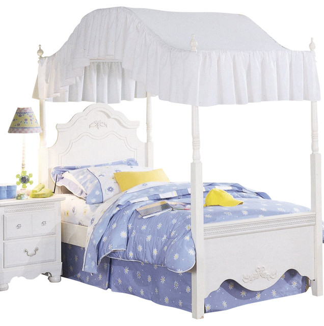Standard Furniture Diana Canopy Bed In White Full