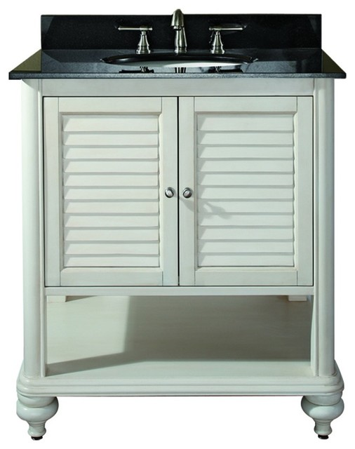 """Avanity TROPICA-VS30-AW-C Tropica 31"""" Vanity Set in Antique White with Vanity To traditional-bathroom-vanities-and-sink-consoles"""