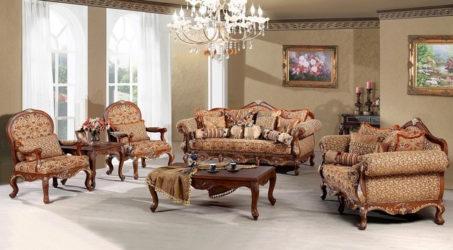 Madeleine Luxury Living Room Sofa Set Traditional
