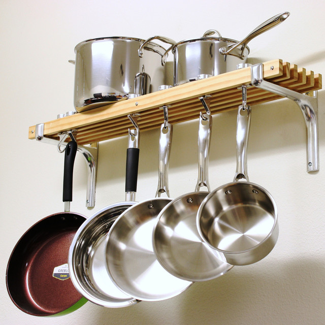 Cooks Standard Wall Mount Pot Rack,36 by 8-Inch - Contemporary - Pot Racks And Accessories - by ...