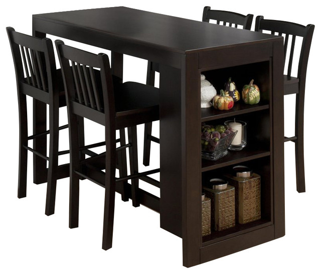 Jofran 5 Piece Counter Height Storage Dinette in Maryland  : transitional dining sets from houzz.com size 640 x 546 jpeg 70kB