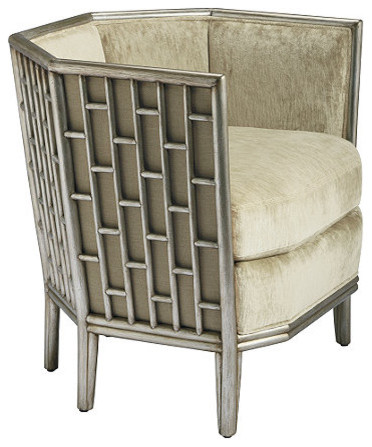 Barbara Barry Fretwork Lounge Chair: No. A-67 eclectic-armchairs