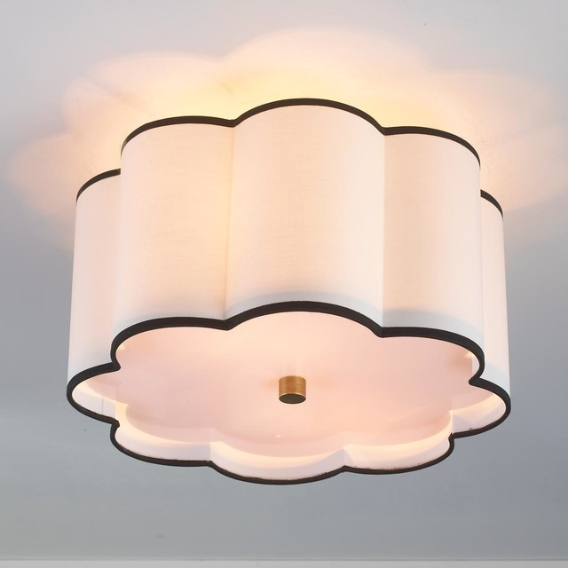 Flower Drum Shade Ceiling Light 2 Finishes Lamp Shades By Shades Of Light