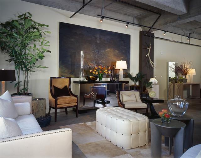 Modern Industrial Loft Living Room