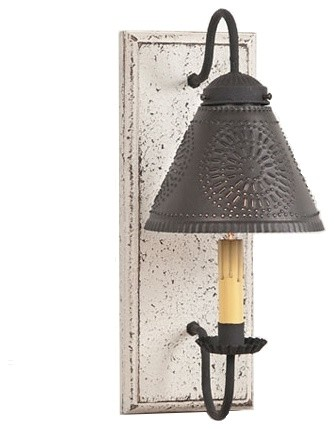 Crestwood Sconce, Vintage White - Farmhouse - Wall Lighting - by The Country Marketplace