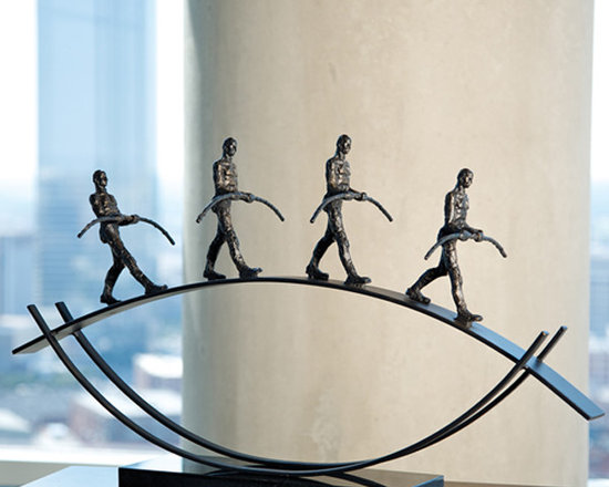 """Balance Sculpture - Shipping is included in the price! A beautiful iron sculpture from Global Views. Dimensions: 31""""w x 9""""d x 17.5""""h"""